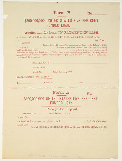 $300,000,000 United States five per cent funded loan ... New York, February 1st, 1873.