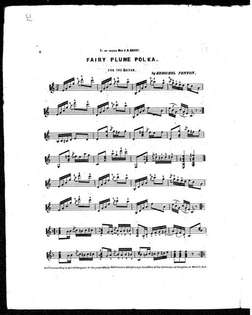 Fairy plume polka [and] Elise mazurka