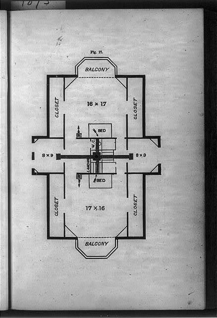 [Floor plan of upstairs bedroom areas]