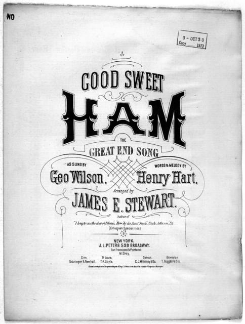 Good sweet ham