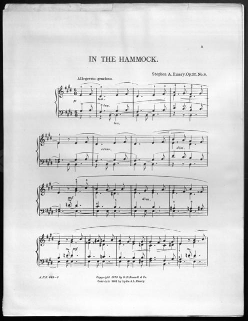 In the hammock, op. 32, no. 8