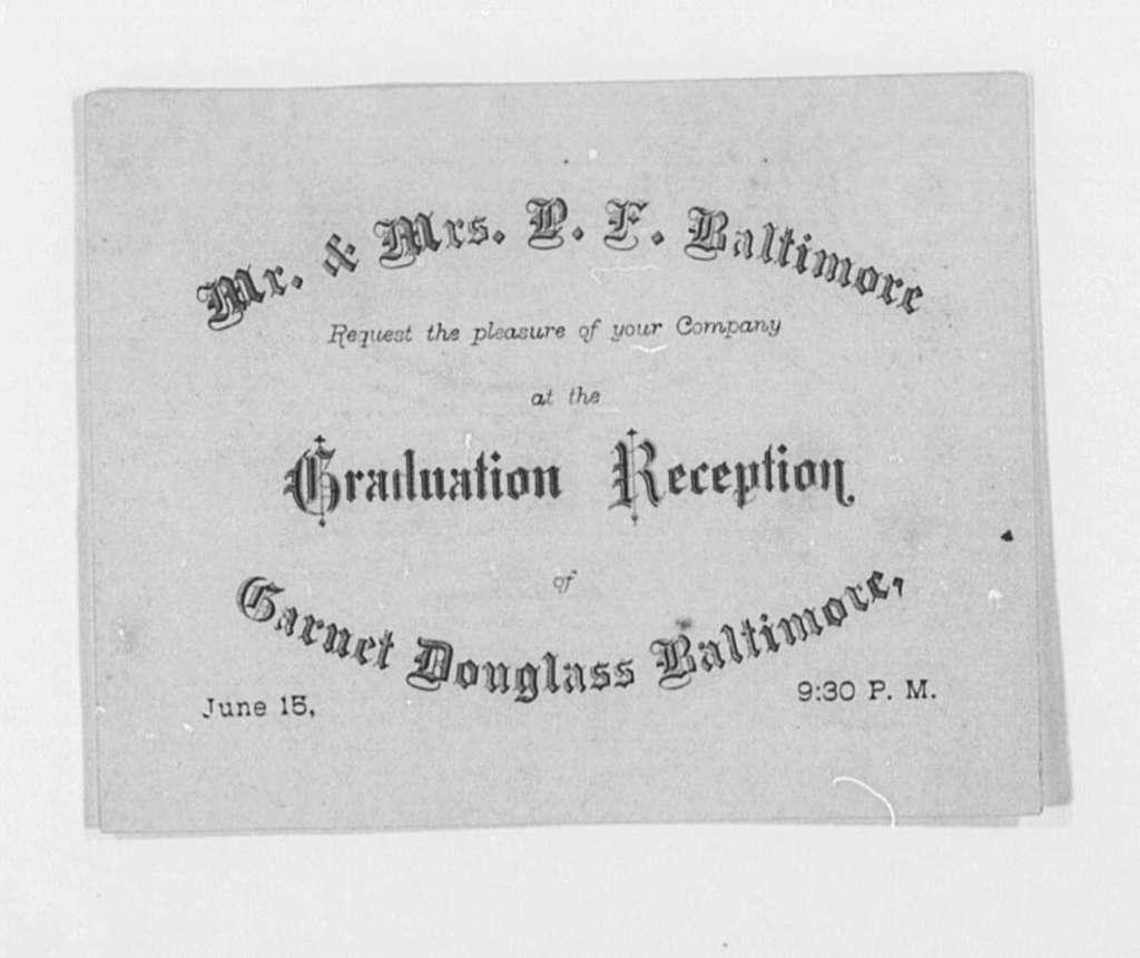 Invitation File, Undated