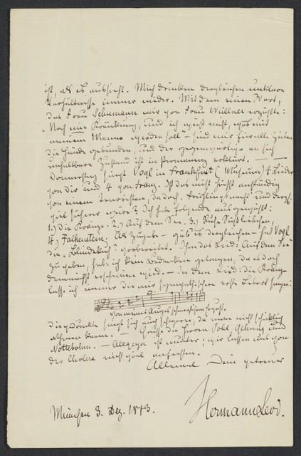 [Letter, 1873] Dez. 3, München [to Brahms]