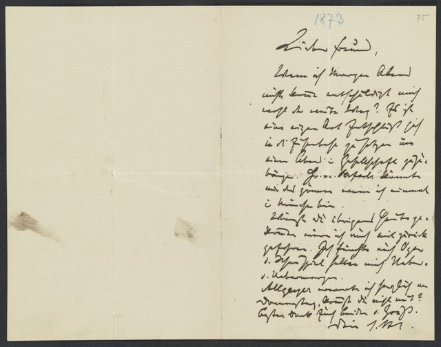 [Letter, 1873, to Levi]