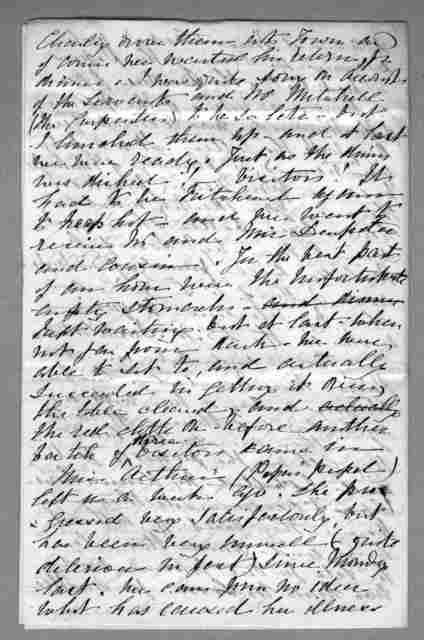 Letter from Eliza Symonds Bell to Alexander Graham Bell, November 7, 1873