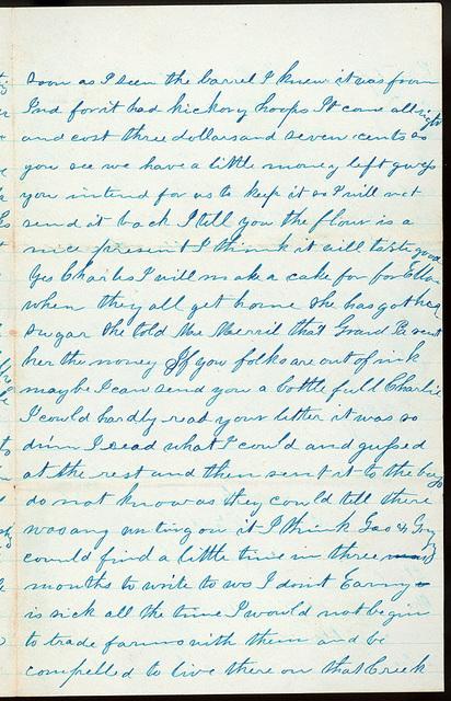 Letter from Mattie V. Oblinger to Thomas Family, August 18, 1873