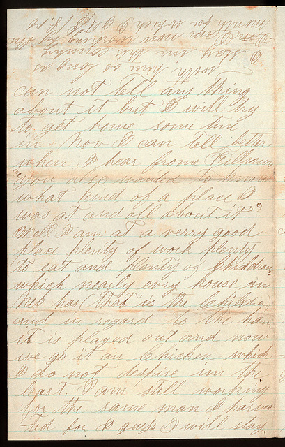 Letter from Sam Thomas to Thomas Family, September 28, 1873