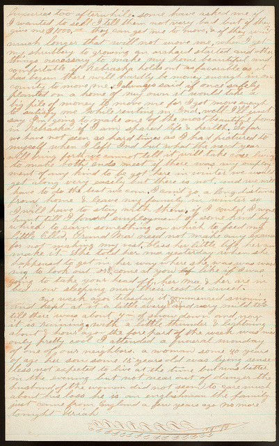 Letter from Uriah W. Oblinger and Mattie V. Oblinger to Thomas Family, December 10, 1873
