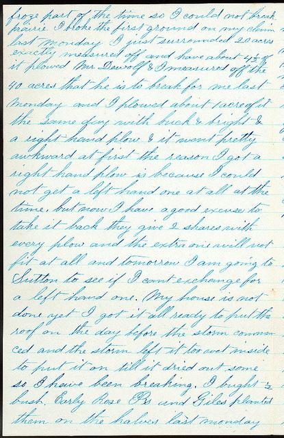 Letter from Uriah W. Oblinger to Mattie V. Oblinger and Ella Oblinger, April 27, 1873