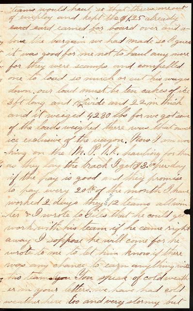 Letter from Uriah W. Oblinger to Mattie V. Oblinger and Ella Oblinger, January 19, 1873
