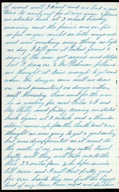 Letter from Uriah W. Oblinger to Mattie V. Oblinger and Ella Oblinger, March 16, 1873