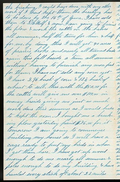 Letter from Uriah W. Oblinger to Mattie V. Oblinger and Ella Oblinger, March 30, 1873