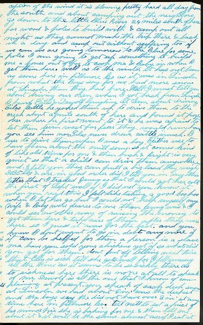 Letter from Uriah W. Oblinger to Mattie V. Oblinger, Ella Oblinger, February 9, 1873