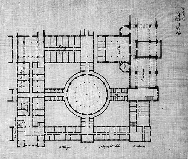 "[Library of Congress (""New Congress Library""), Washington, D.C. Floor plan]"