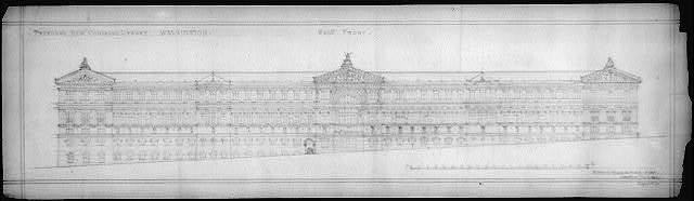 "[Library of Congress (""New Congress Library""), Washington, D.C. West front elevation]"