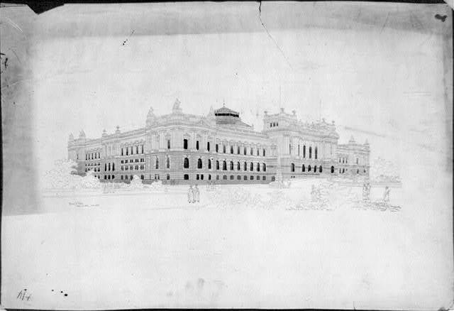 [Library of Congress, Washington, D.C. Exterior perspective rendering]
