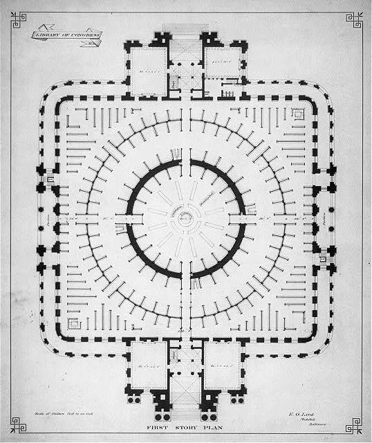 [Library of Congress, Washington, D.C. First story plan]