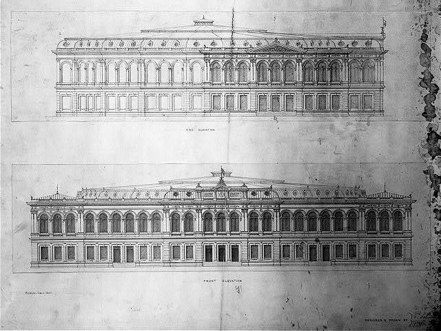 [Library of Congress, Washington, D.C. Front and end elevations]