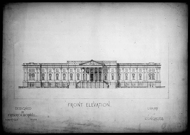 [Library of Congress, Washington, D.C. Front elevation]