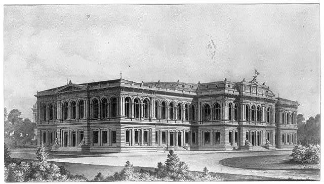 [Library of Congress, Washington, D.C. Front elevation perspective rendering]