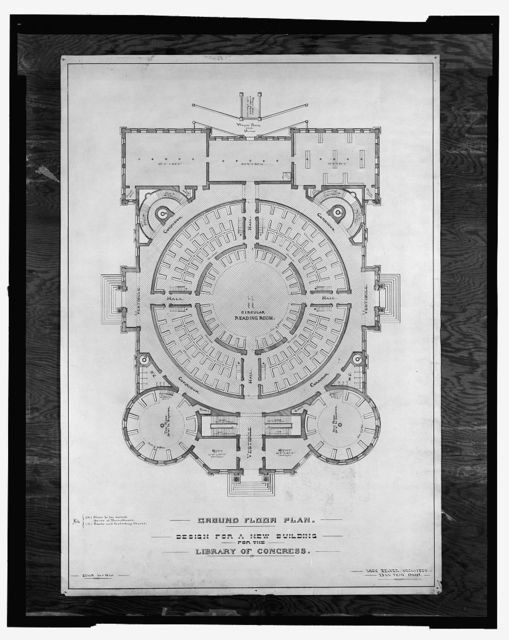 [Library of Congress, Washington, D.C. Ground floor plan]