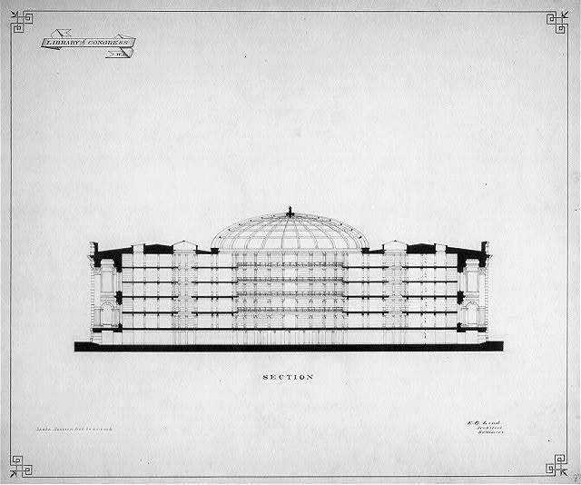 [Library of Congress, Washington, D.C. Longitudinal section]