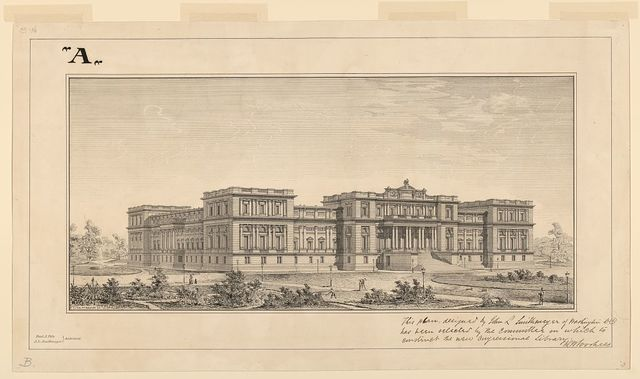 [Library of Congress, Washington, D.C. Perspective] / P.J. Pelz et V. Hagmann del.