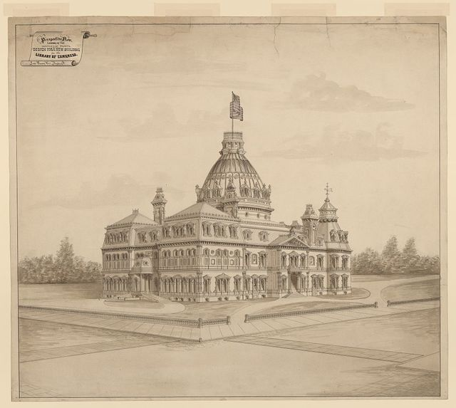 [Library of Congress, Washington, D.C. Perspective rendering] / Leon Beaver arc't., Dayton, O.
