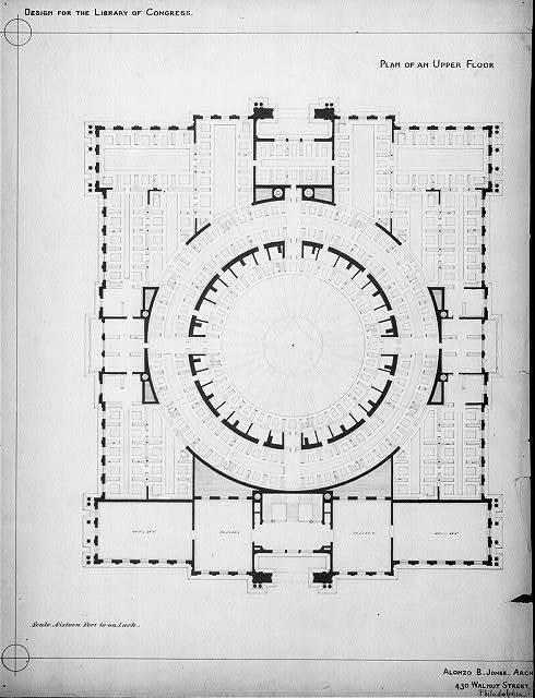 [Library of Congress, Washington, D.C. Plan of an upper floor]