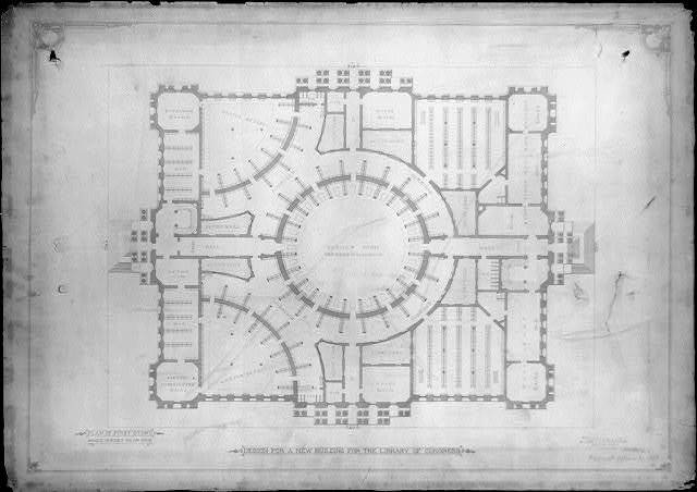 [Library of Congress, Washington, D.C. Plan of first story]