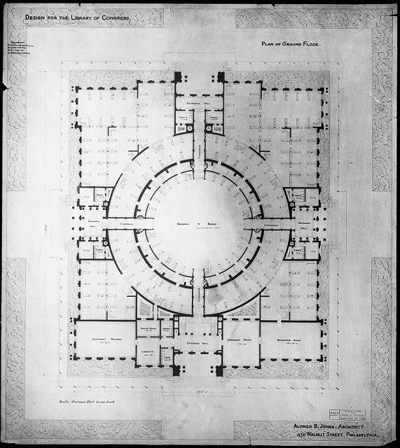 [Library of Congress, Washington, D.C. Plan of ground floor]