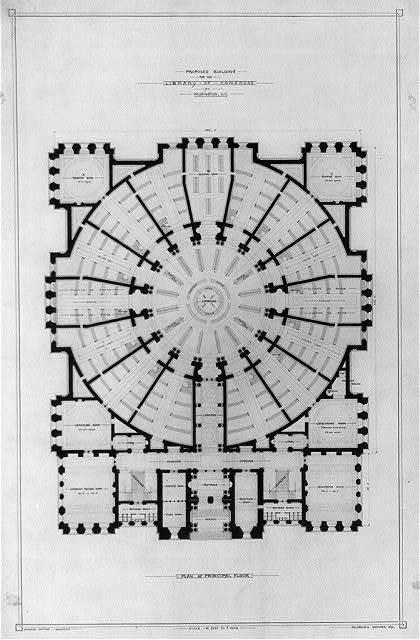 [Library of Congress, Washington, D.C. Plan of principal floor]