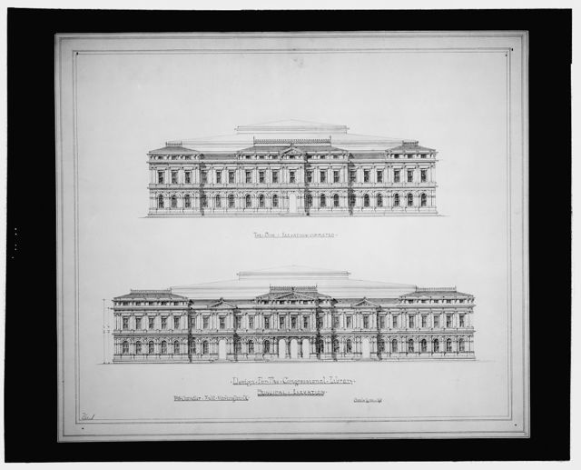 [Library of Congress, Washington, D.C. Principal and side elevations]