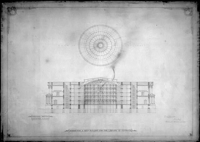 [Library of Congress, Washington, D.C. Vertical section and plan of skylights]