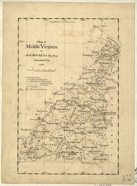 Map of middle Virginia /