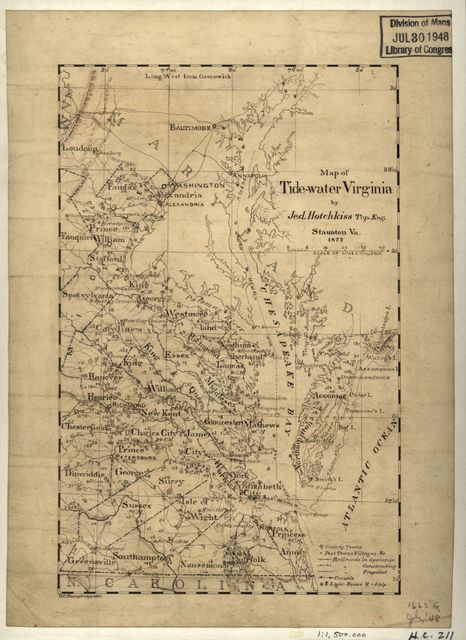 Map of Tide-water Virginia /