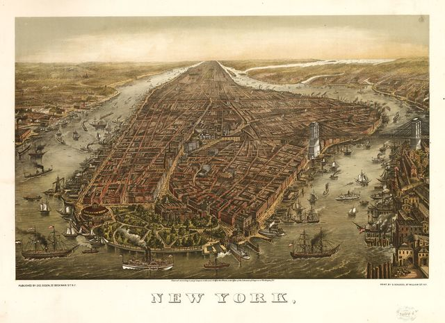 New York, / print by G. Schlegel, 97 William St. N.Y.