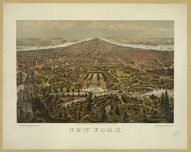 New York, / print by G. Schlegel, 97 William St. N.Y.