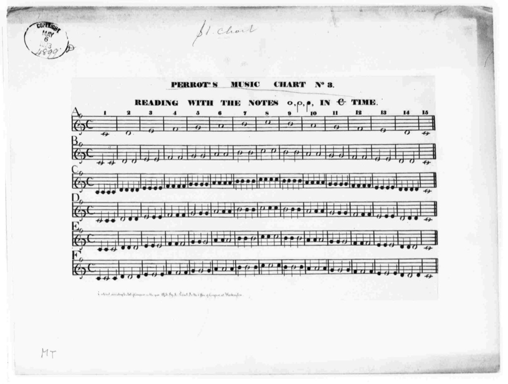 Perrot's Music Chart No.3