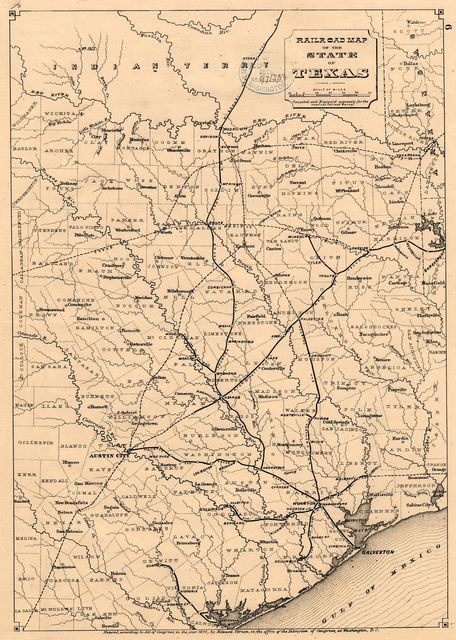 Railroad map of the state of Texas /