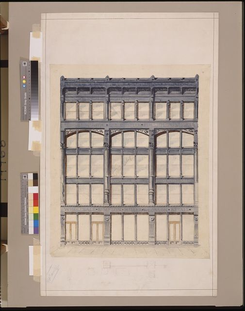 [Roosevelt building, New York City. Façade. Elevation]