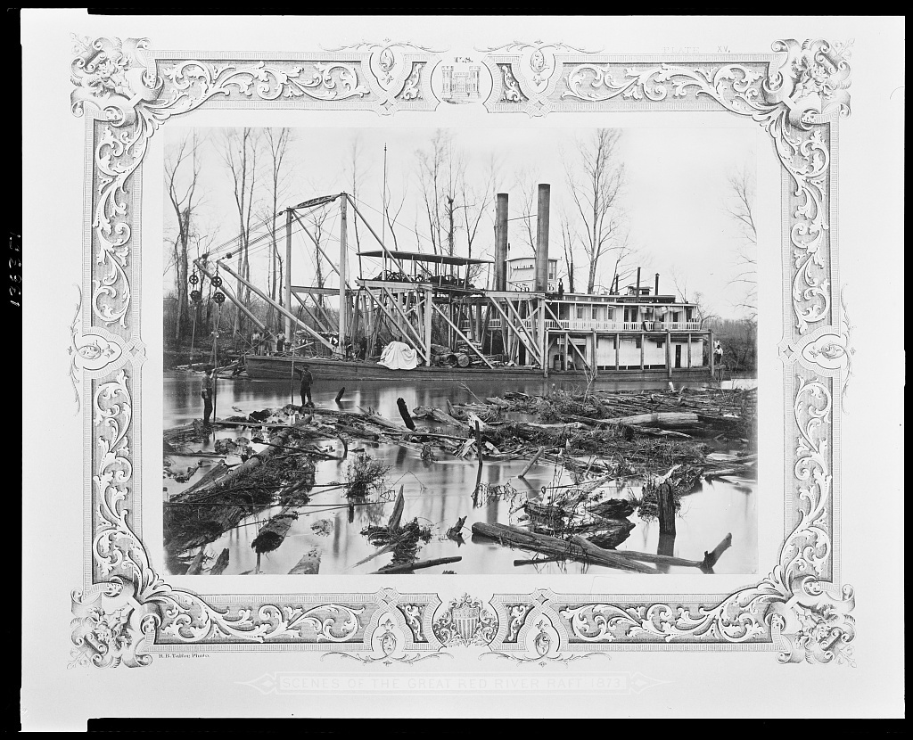 Scenes of the great Red River raft - 1873