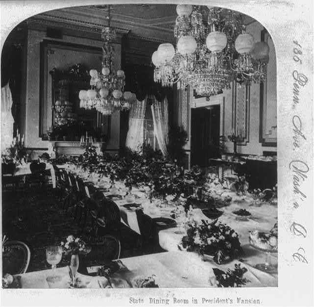 State Dining Room in President's mansion