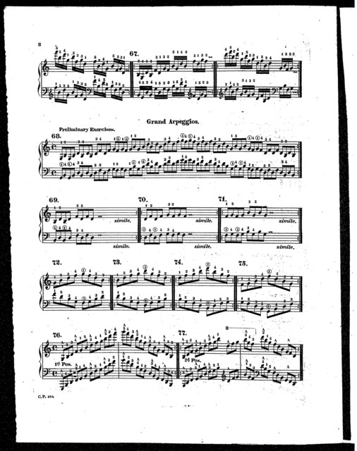 Technical studies for piano forte, part III