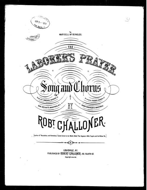The  Laborer's prayer
