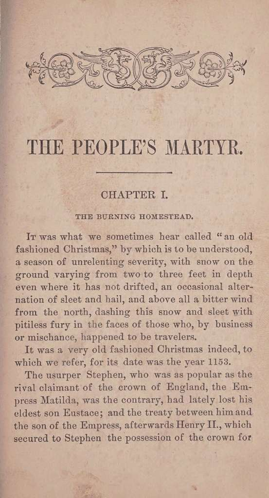 The people's martyr: a legend of Canterbury