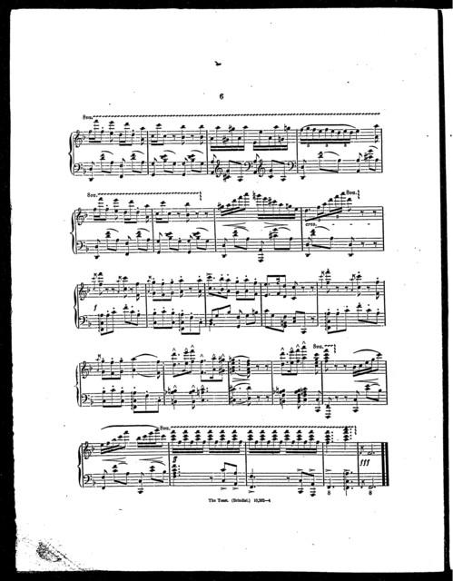 Toast, The - piano arrangement