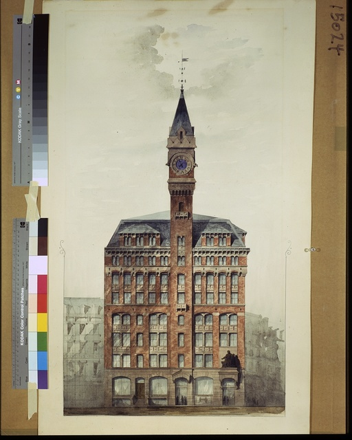 [Tribune Building, New York City. Preliminary elevation. Rendering]