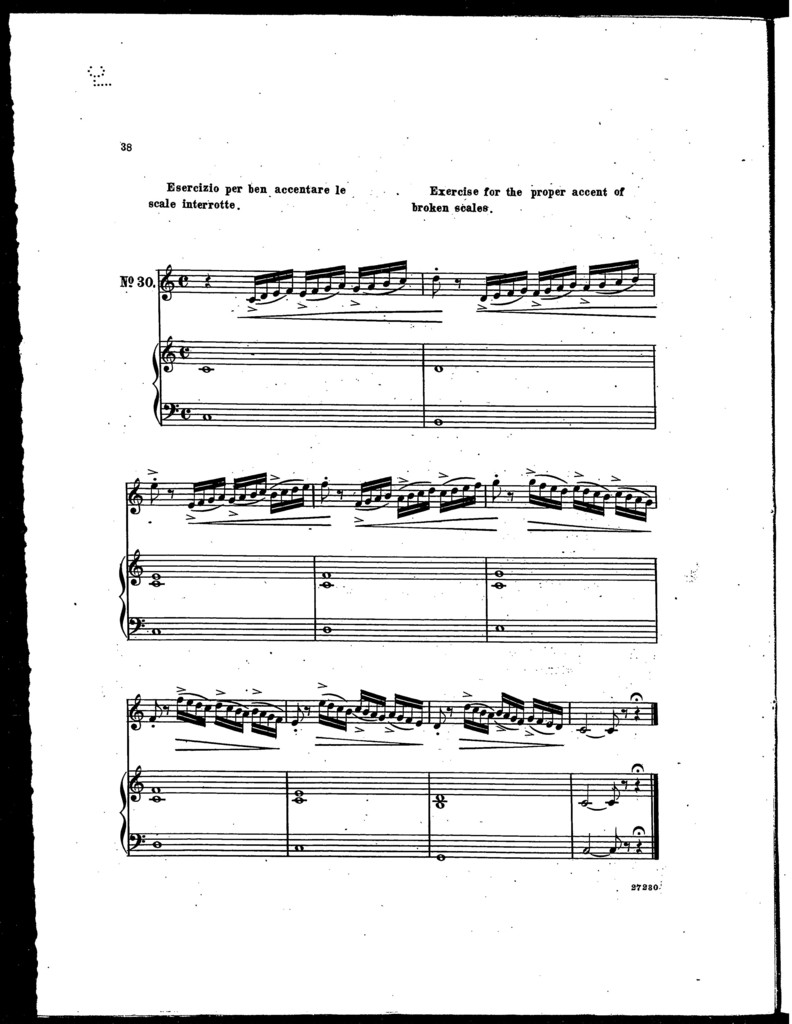Vocal exercises, 40