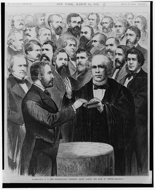 Washington D.C. - The Inauguration - President Grant taking the oath of office [March 4, 1873]